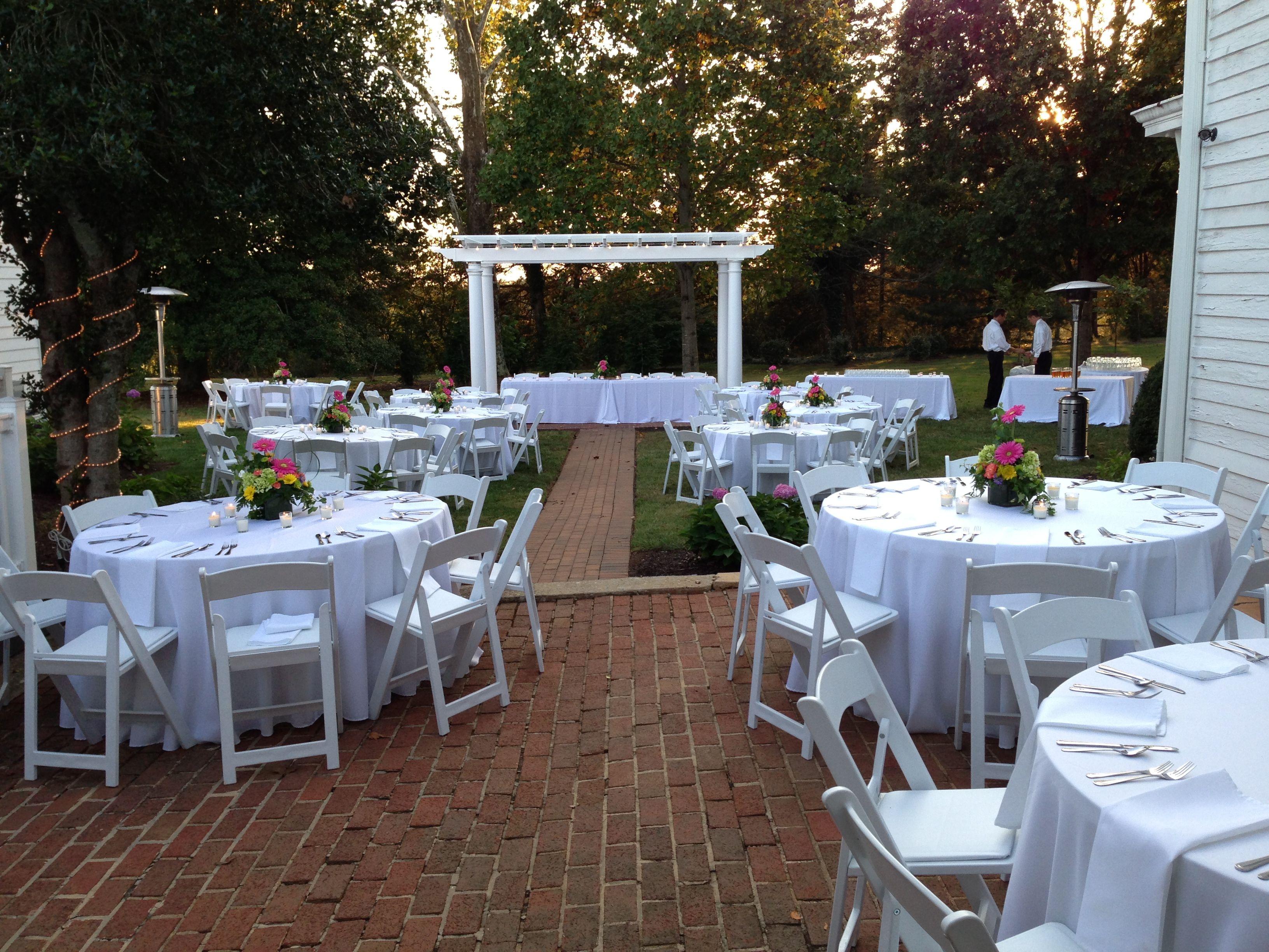 Outdoor Rehearsal Dinner. Trivium Estate- Forest, VA