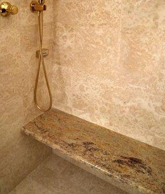 Travertine Tile Shower Designs Travertine Shower With Granite Seat Bedroo