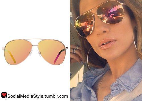 Buy Jennifer Lopez S Aviator Sunglasses Here Jennifer
