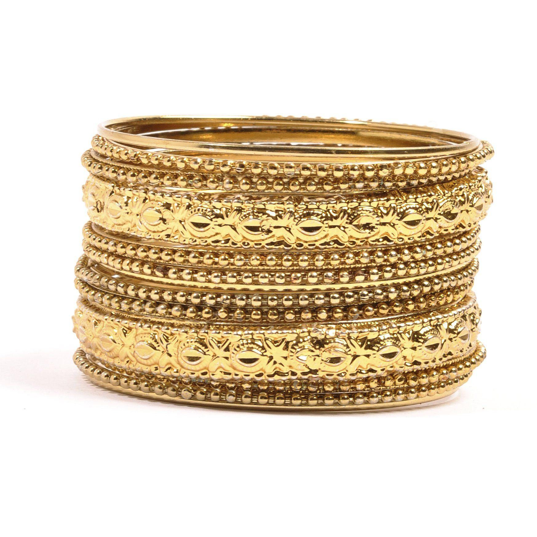 Silly yogi indian fashion metal bangle braceletgold tone my style