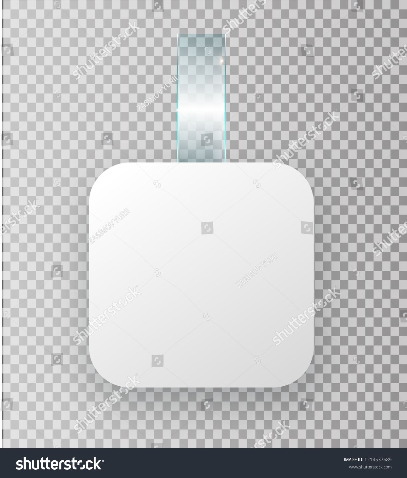 Blank White Wobbler Hang On Wall Mock Up 3d Rendering Space