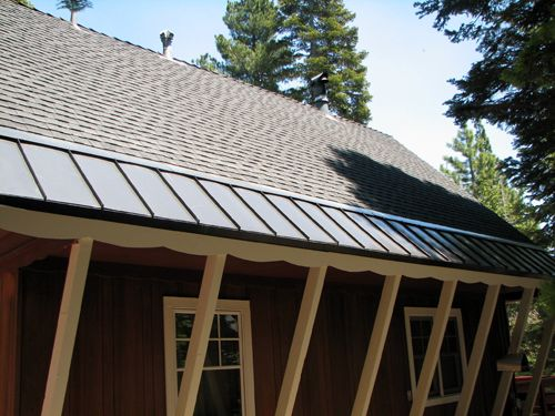 Asphalt Roof With Metal Snow Edging Home Tips Projects