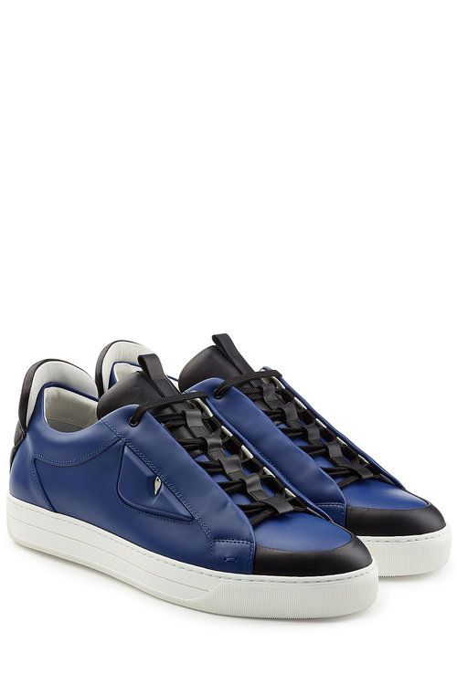 cheaper 614d5 7365f FENDI Leather Eye Sneakers. fendi shoes