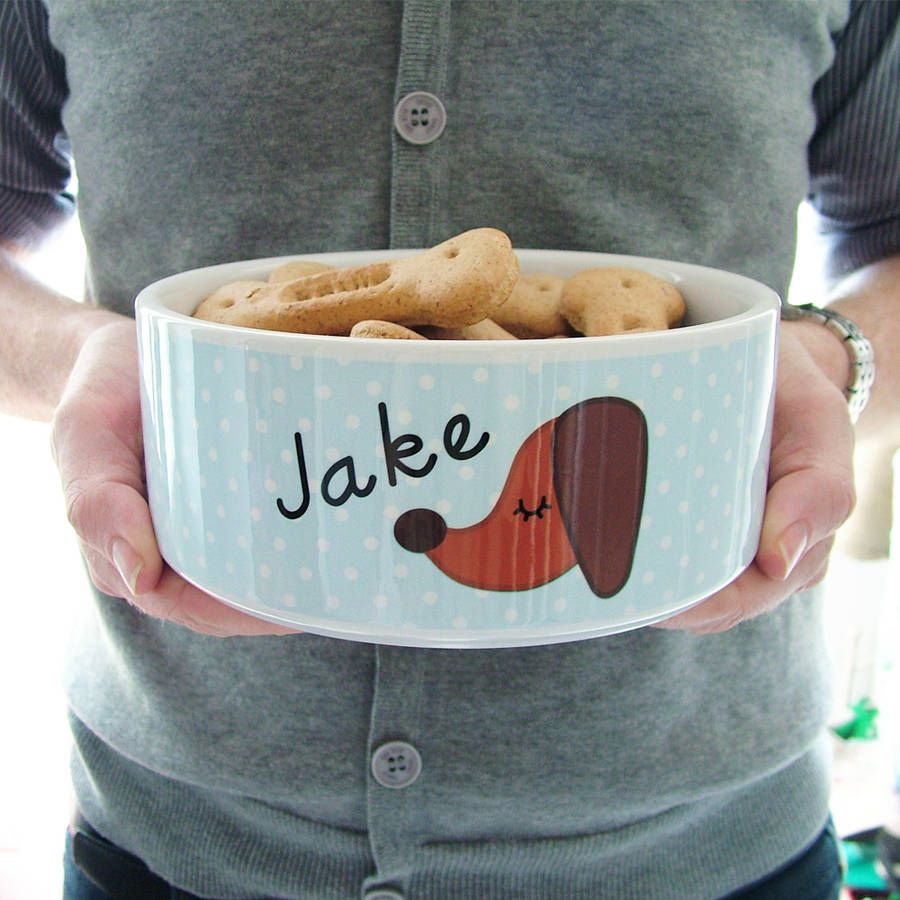 personalised ceramic dog bowl large by hoobynoo world | notonthehighstreet.com