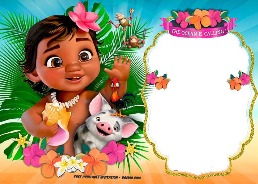 image relating to Moana Printable Invitations identify Absolutely free Moana Birthday Invitation Celebration Recommendations Moana