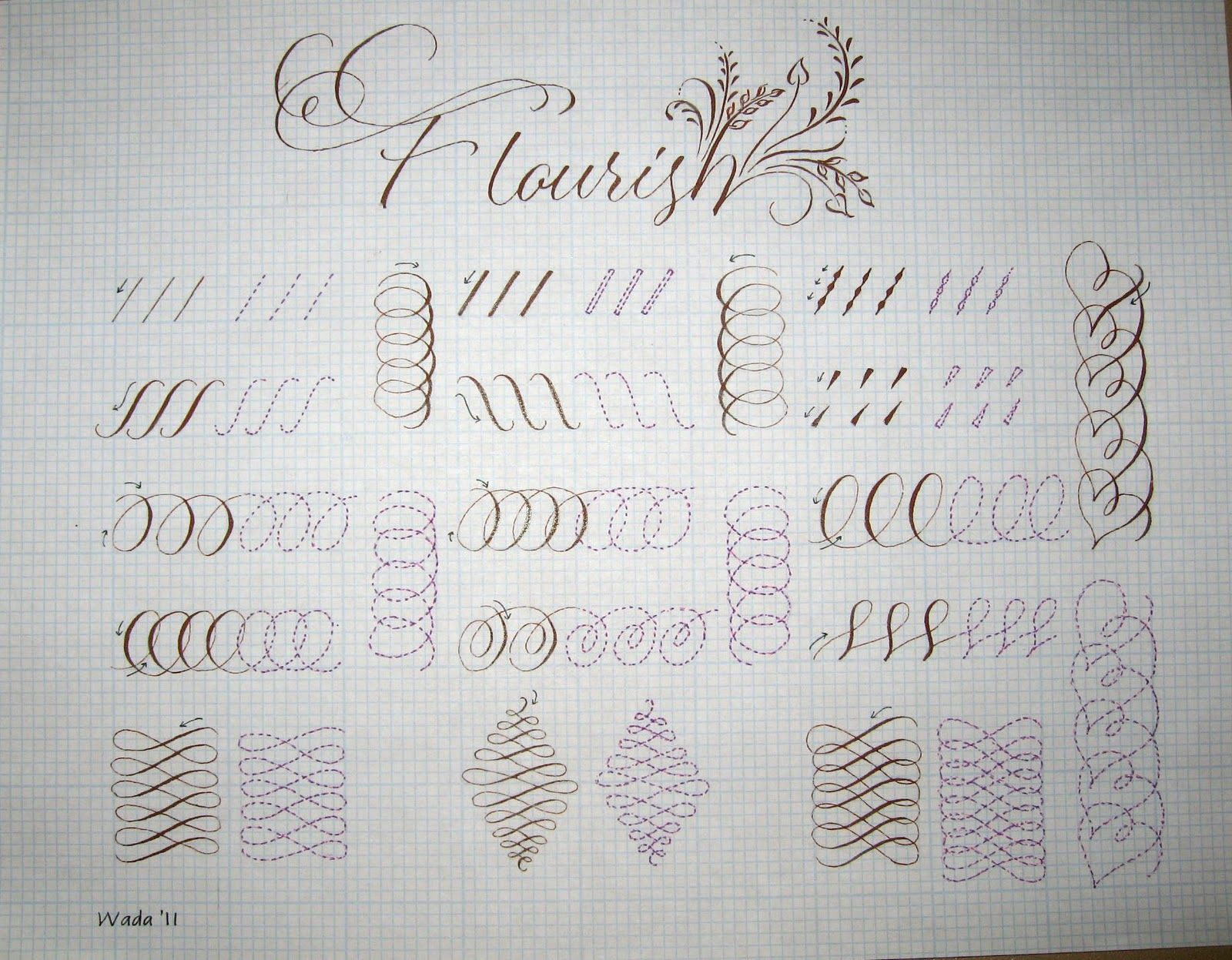 Deann Singh Calligraphy November 21 2011 Pointed Pen