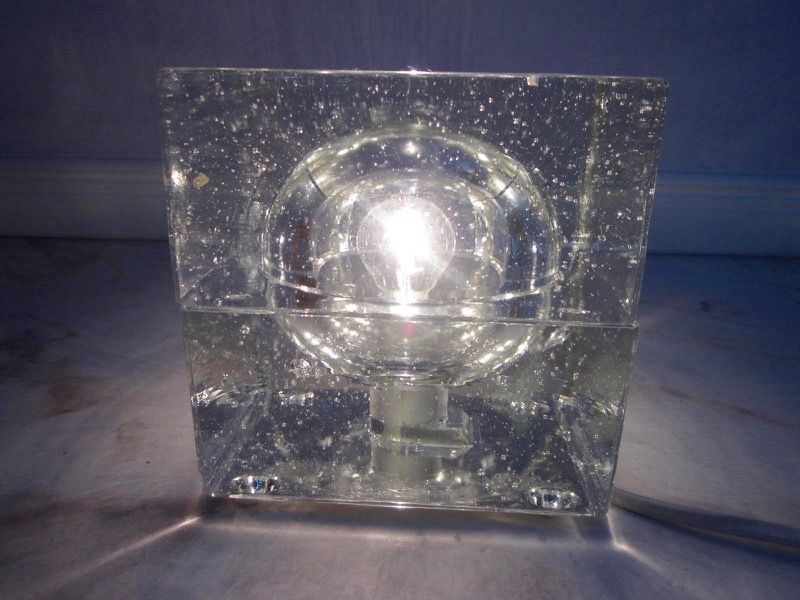 Mid-century modern table lamp ICE CUBE by Müller & Zimmer era Sarfatti Mendini