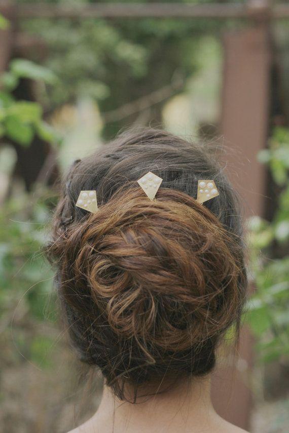 Classic Pearl Hair Jewelry Classic Hair Accessories Geometric