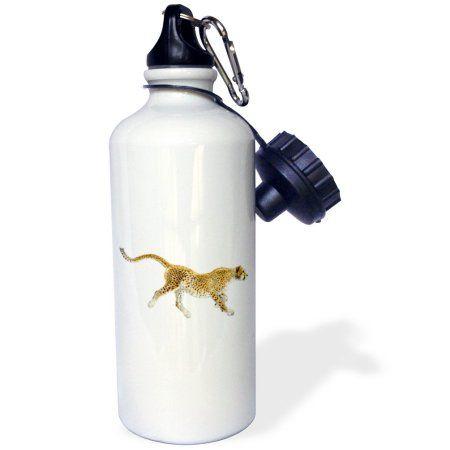 3dRose Print of Cheetah Loping, Sports Water Bottle, 21oz