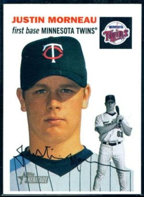 Justin Morneau Trading Cards Justin Morneau 2003 Topps