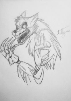 Twisted Wolf (sketch) by teddyfazbear1314 | Sketches, Wolf ...