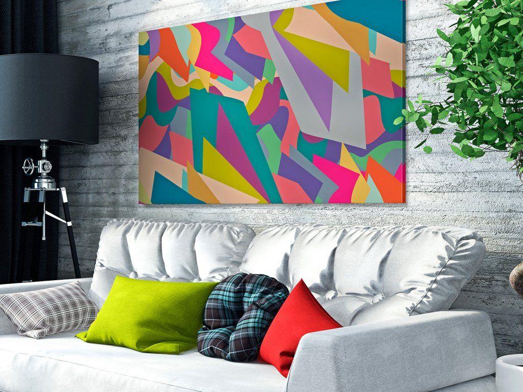 30902 Obraz Na Plotnie Abstrakcja Kolor 120x80 Home Decor Tapestry Decor