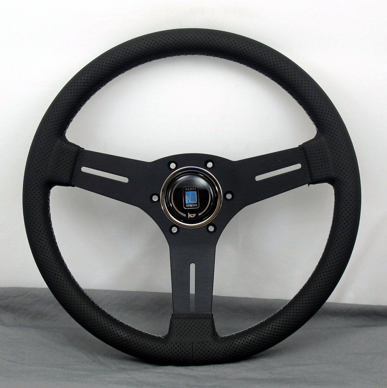 Universal PU Leather Stitching Sport F1 JDM Auto Car Racing Steering Wheel Blue