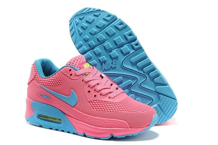 Nike Air Max 90 Womens Shoes HYP KPU TPU Online Pink Blue  1bf9bdb929