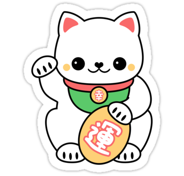 Super cute maneki neko stickers the lucky beckoning cat