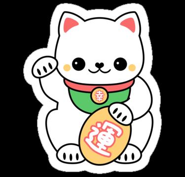Super cute maneki neko stickers the lucky beckoning cat