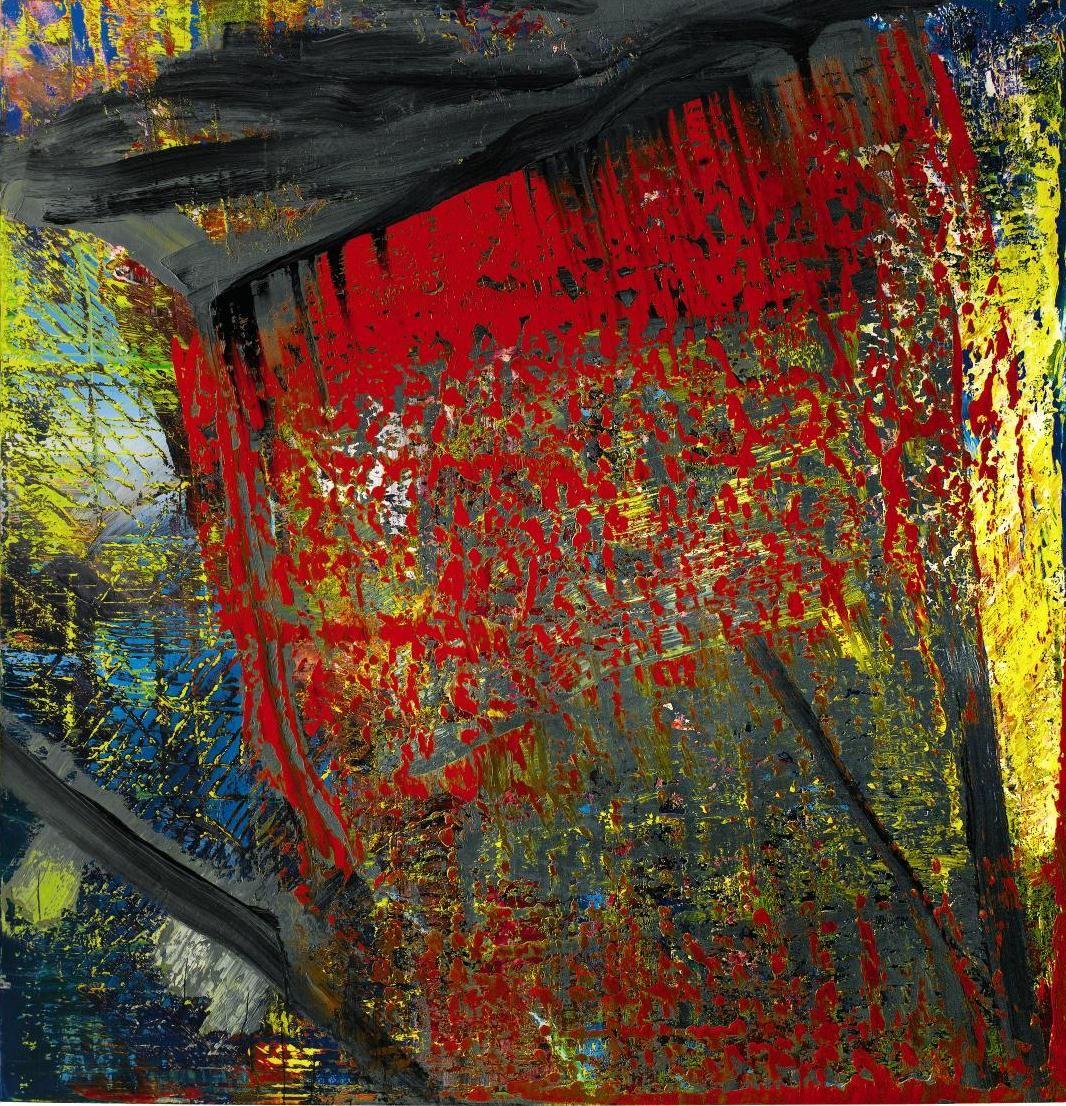 gerhard richter abstrakte malerei kunst kunstproduktion gemälde abstrakt gold bilder rot grau