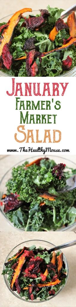 January Farmer's Market Salad: A vegetarian entree salad