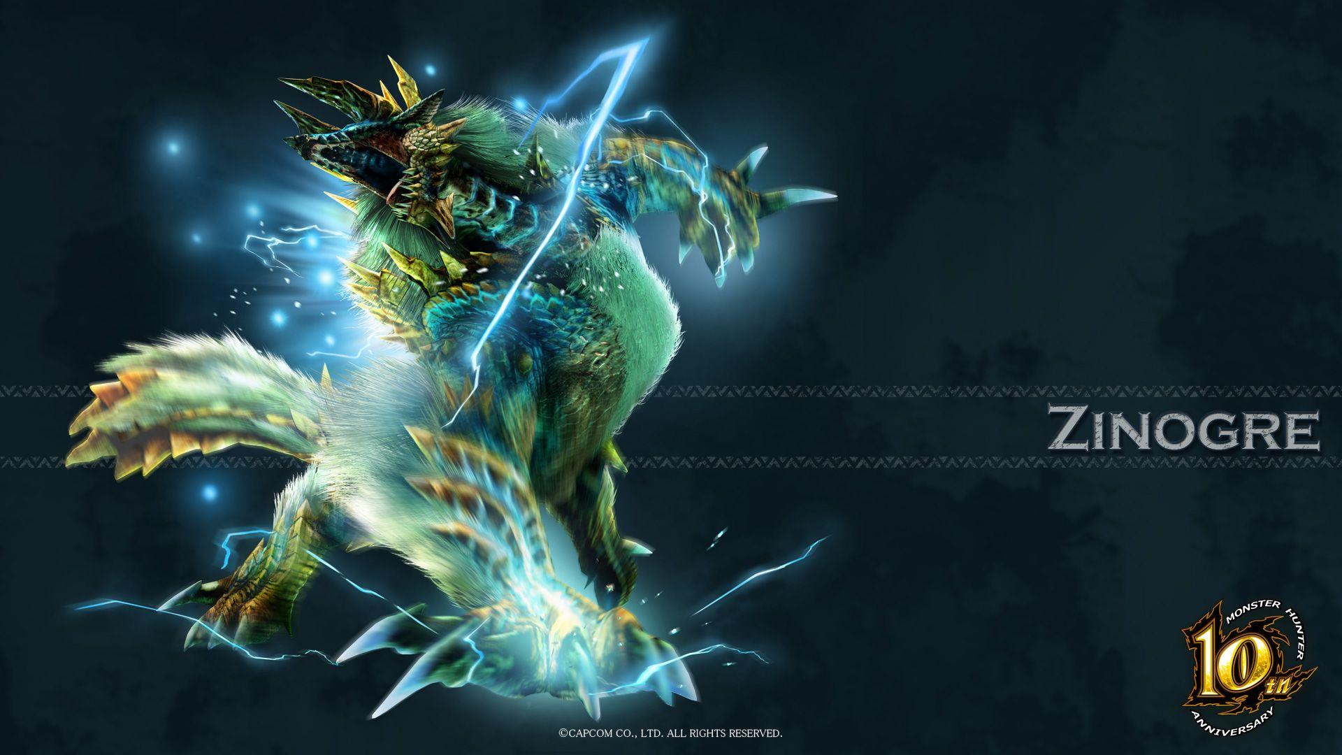 Image For Free Zinogre Monster Hunter Video Game Hd Wallpaper