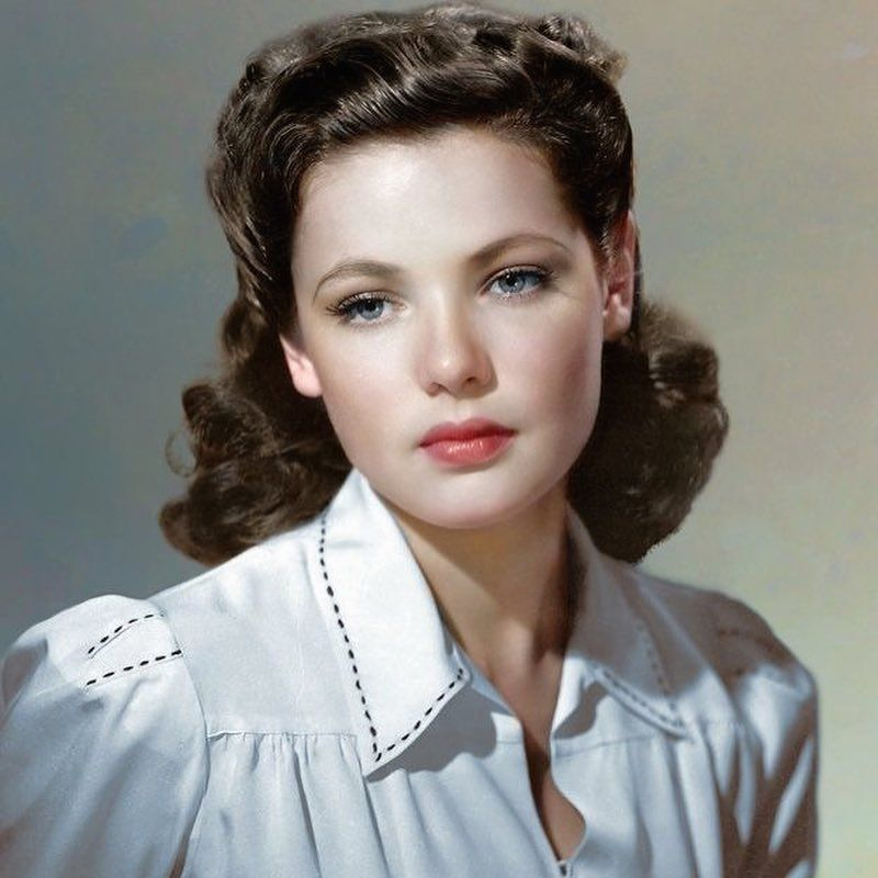 Gene Tierney Is My Current Beauty Inspiration Her More Natural Looks Are My Favourites As They Are Effortlessly Gene Tierney Vintage Hairstyles Hair Styles