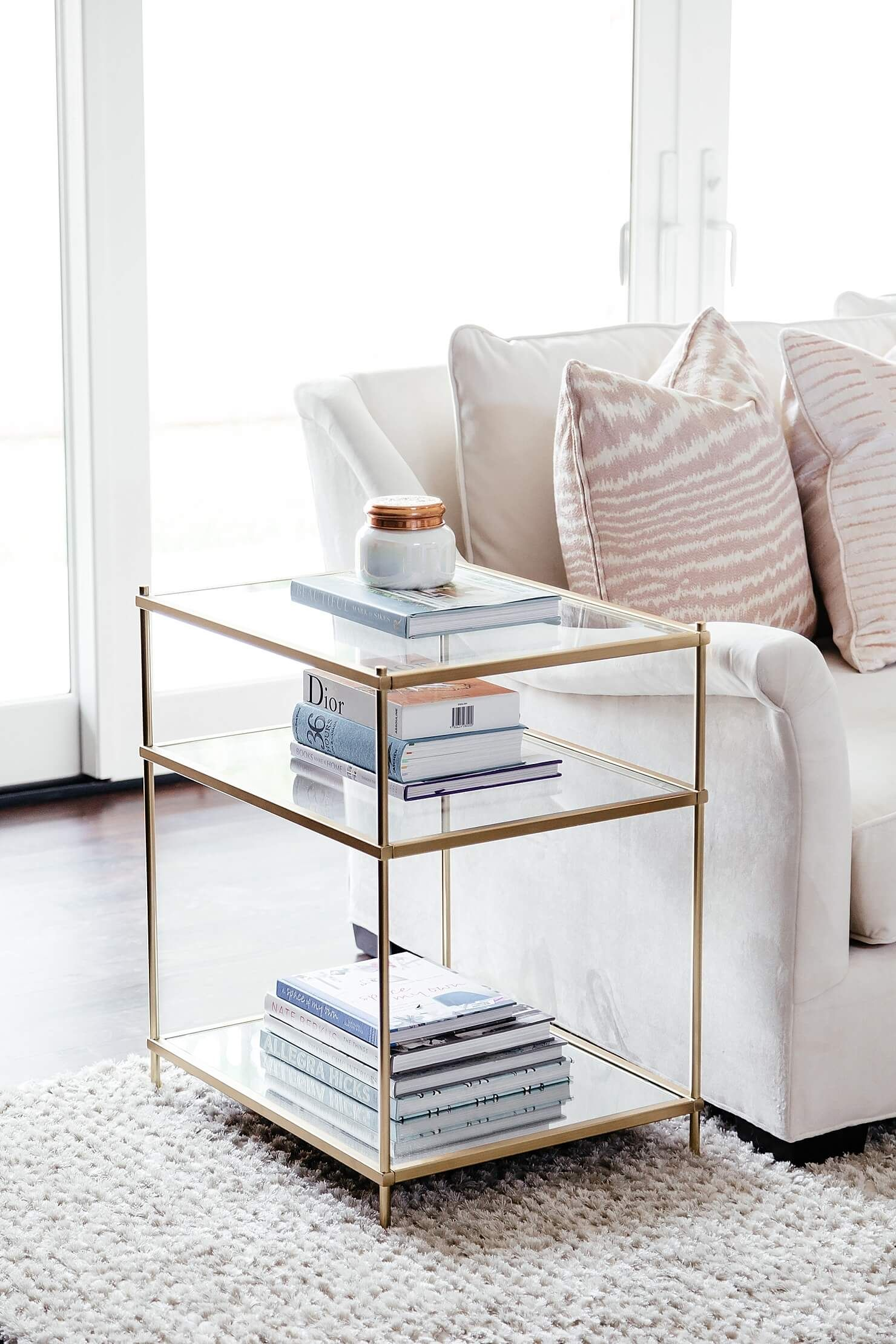 Living Room Update:: The Sectional Is Here | Pinterest | Glass side ...