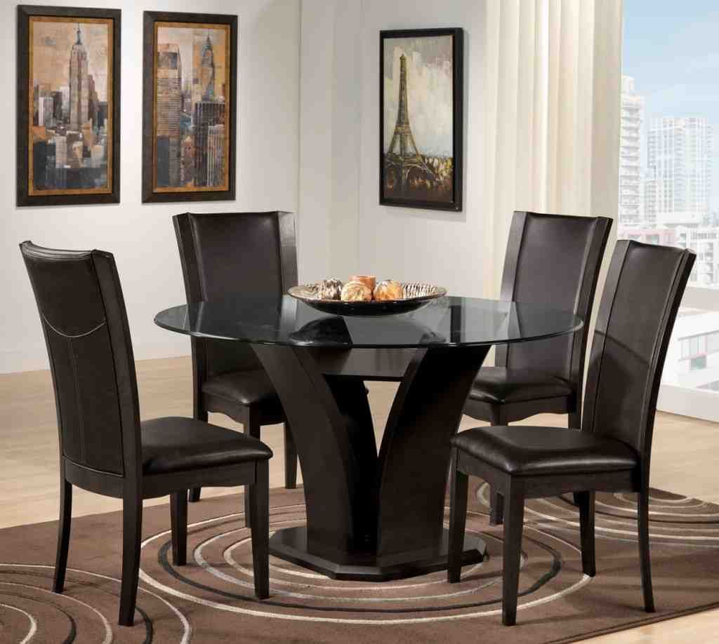 Round Dining Room Sets, Small Round Black Kitchen Table And Chairs