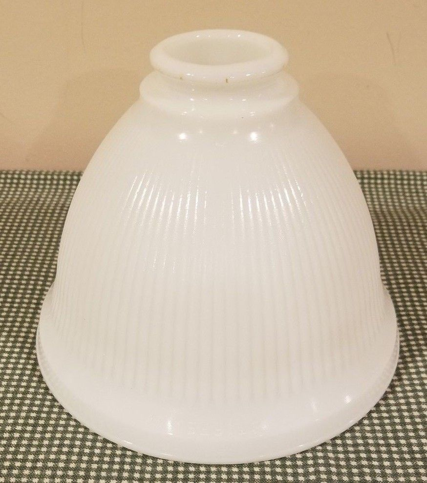 Vintage 8 stiffel 25 milk glass shade lamp torchiere floor lamp diffuser globe