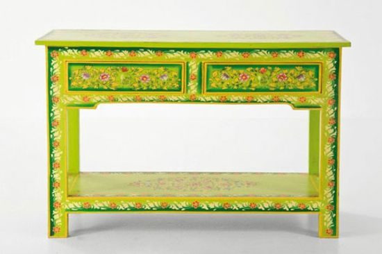 Lustige-bemalte-Möbel-Schreibtisch-Blumenmotive Home Pinterest