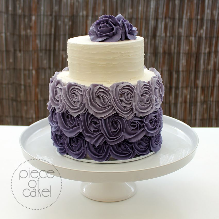 Wedding Cake Decorating Buttercream : purple buttercream wedding cakes - Google Search Cake decorating ideas Pinterest ...