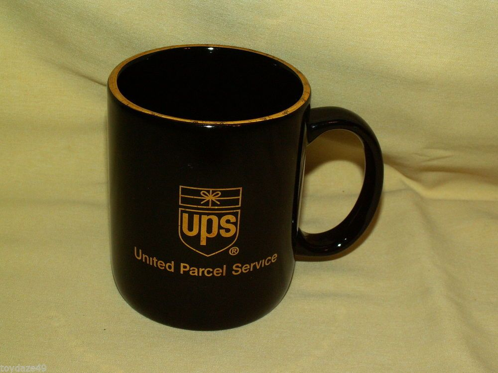 UPS MUG UNITED PARCEL SERVICE BLACK GOLD COFFEE TEA CUP RETRO LOGO - raytheon security officer sample resume