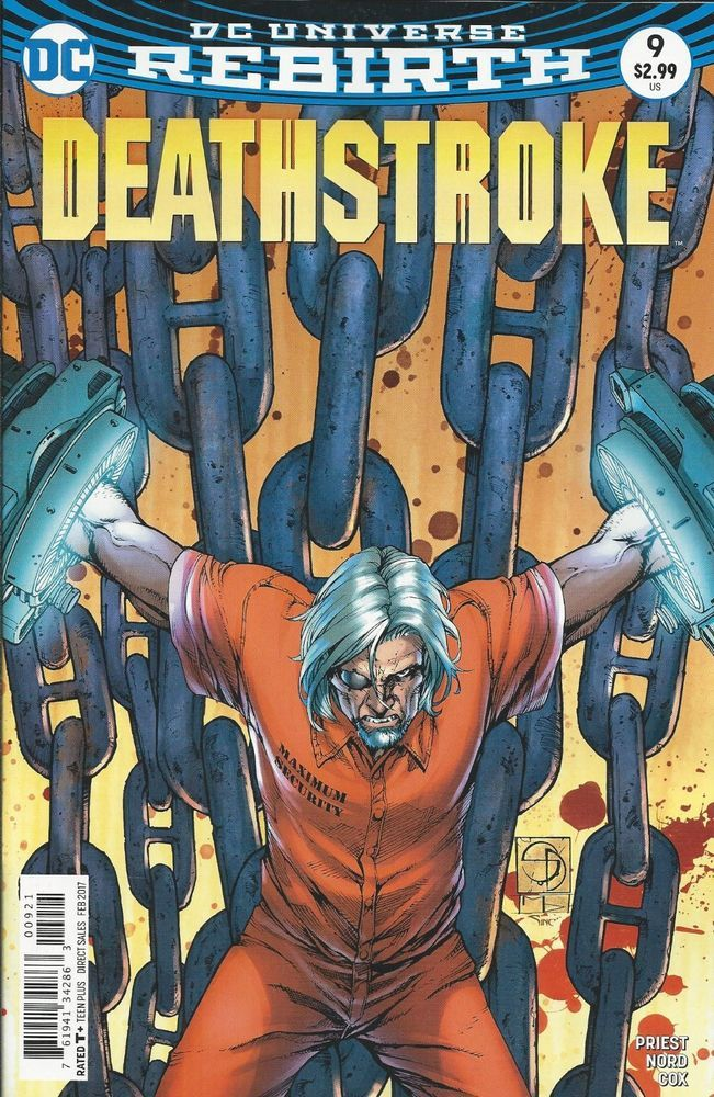 DC Rebirth Deathstroke comic issue 9 Limited variant