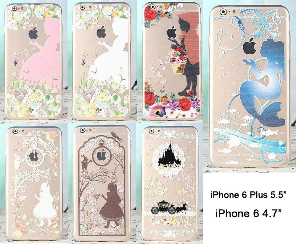 official photos f84f4 c53d3 Ultra Thin Disney Princess Series Transparent TPU Soft Case For ...