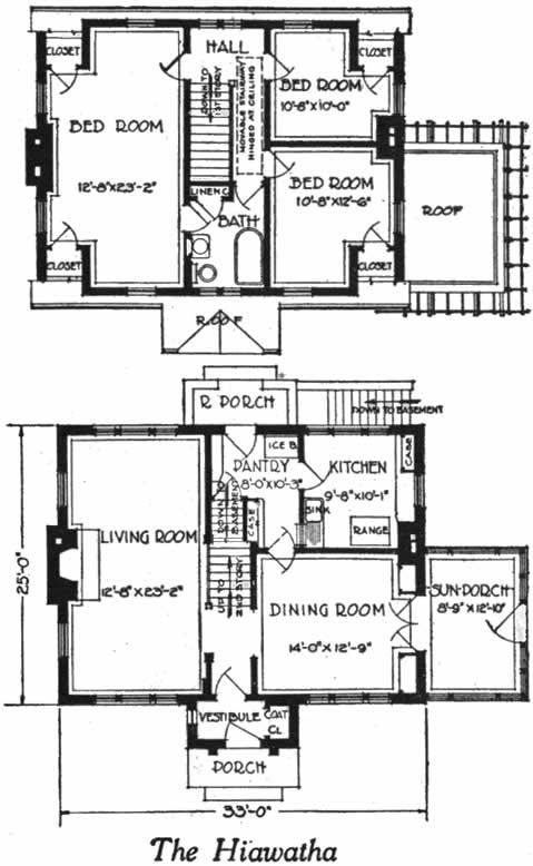 The hiawatha dutch cape house plan 1922 brick dutch cape for Dormered cape