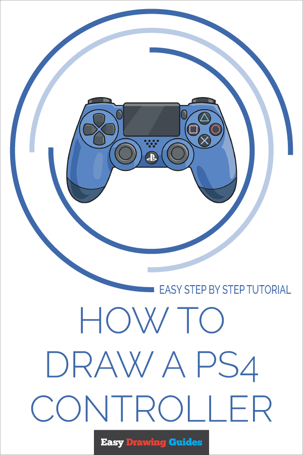 How To Draw A Ps4 Controller Really Easy Drawing Tutorial In 2021 Drawing Tutorial Easy Ps4 Controller Easy Drawings