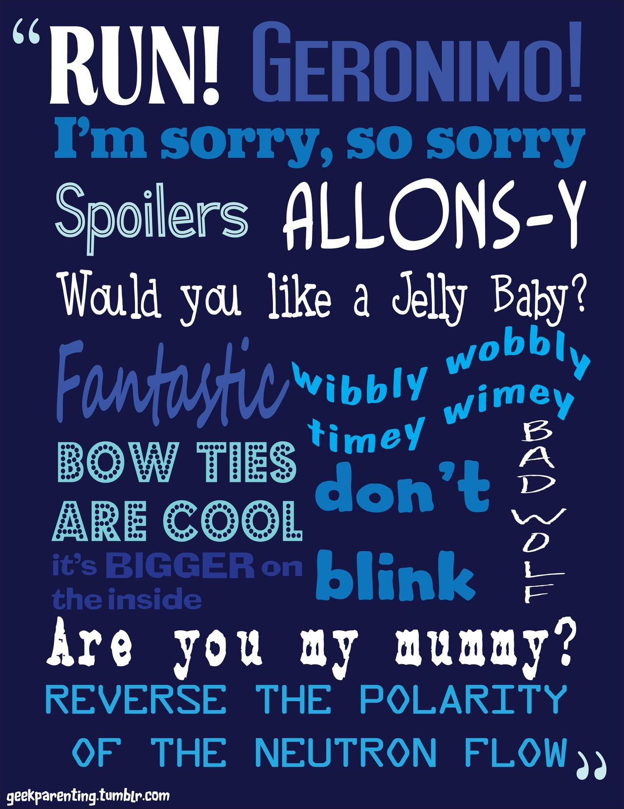 Phrases From Doctor Who Docteur Who Docteur Doctor Who