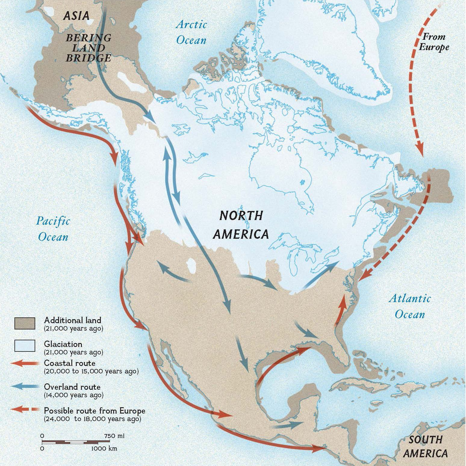 This Map Shows How A Land Bridge Connected The Continents