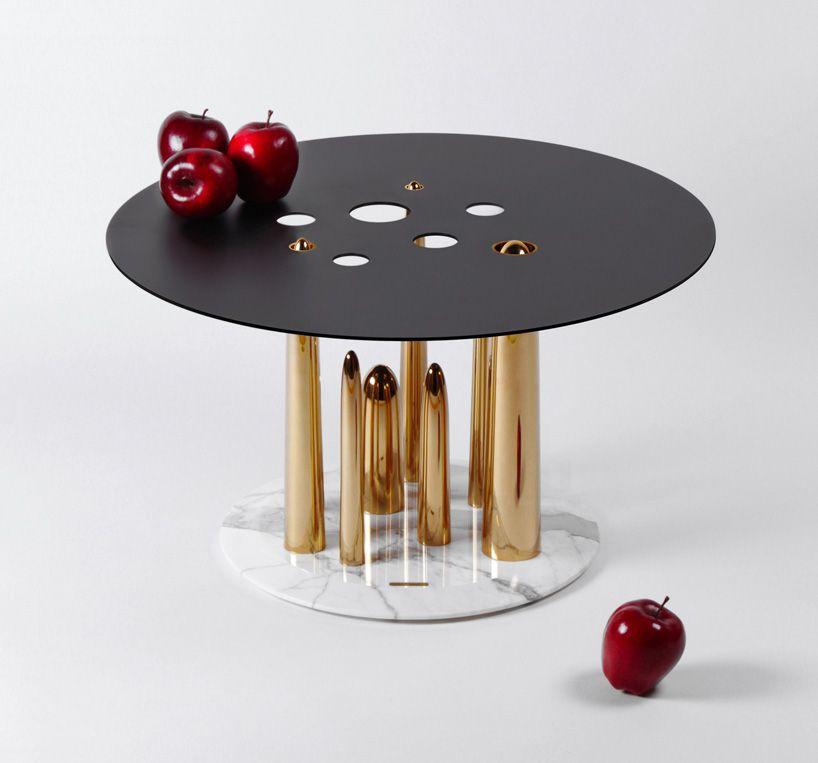 Richard Yasmine Crafts Phallic Esque Glory Holes Side Table