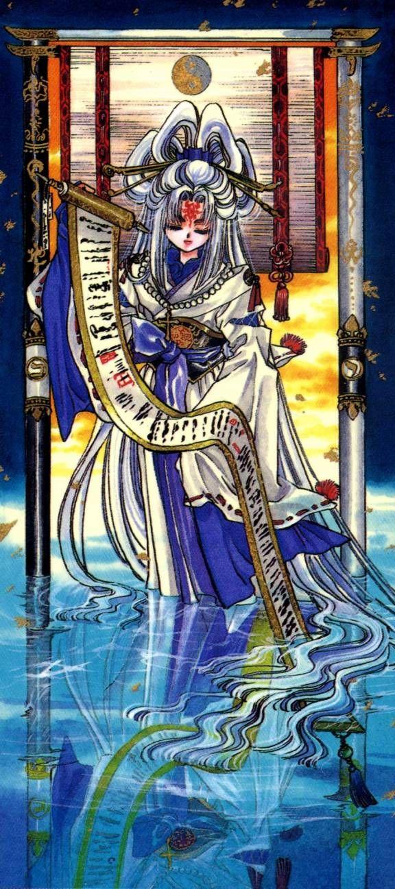 Tarot X The Wheel Of Fortune: CLAMP X 1999 Tarot Art-high Priestess