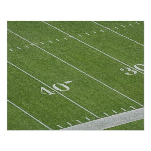 Yard Lines on Football Field Posters