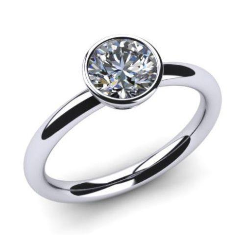 Diamantring weißgold günstig  Diamantring 0.50 Karat Solitär in 585er Weißgold. | Diamantring ...