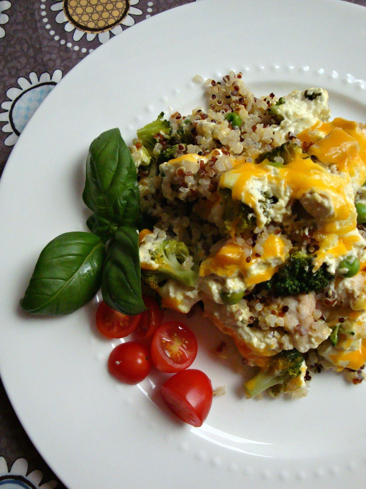 Chicken Broccoli and Quinoa Casserole - Good Dinner Mom