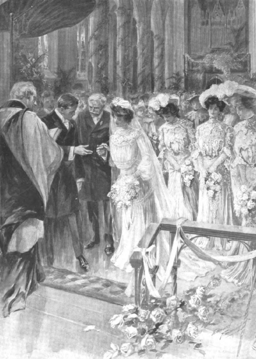 A June Wedding in Grace Church, New York, 1903 Vintage