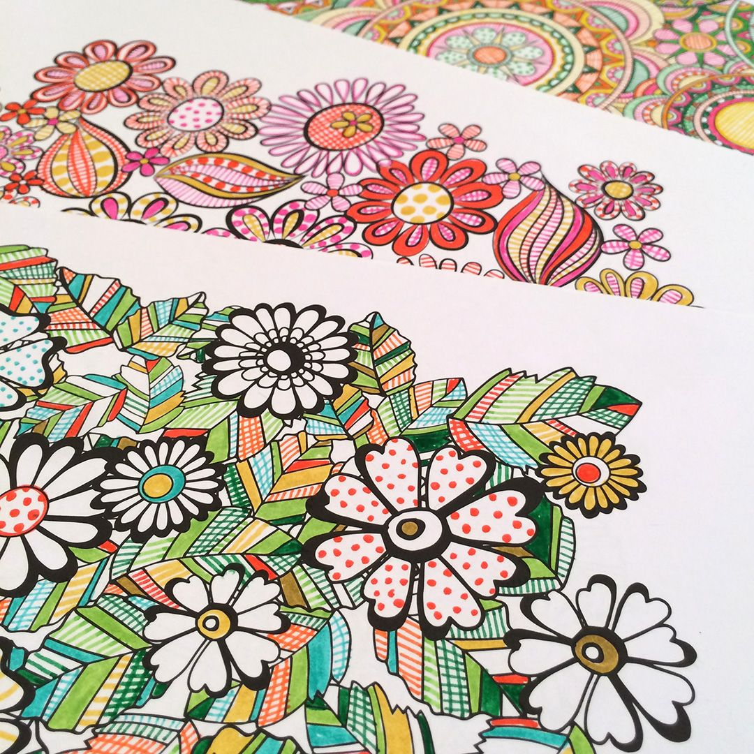 flower designs coloring bookjenean morrison | crafts