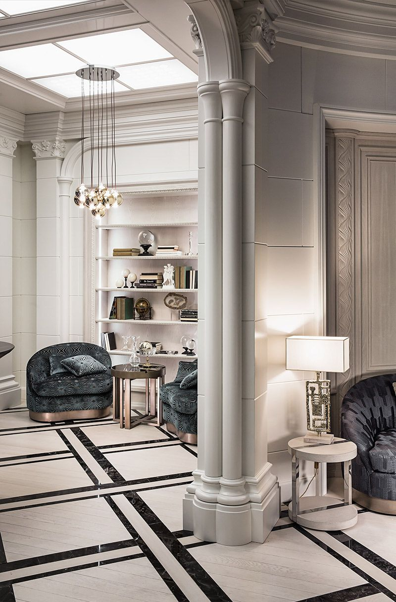 Zonta Neoclassical Interior Contemporary Stairs Classic House