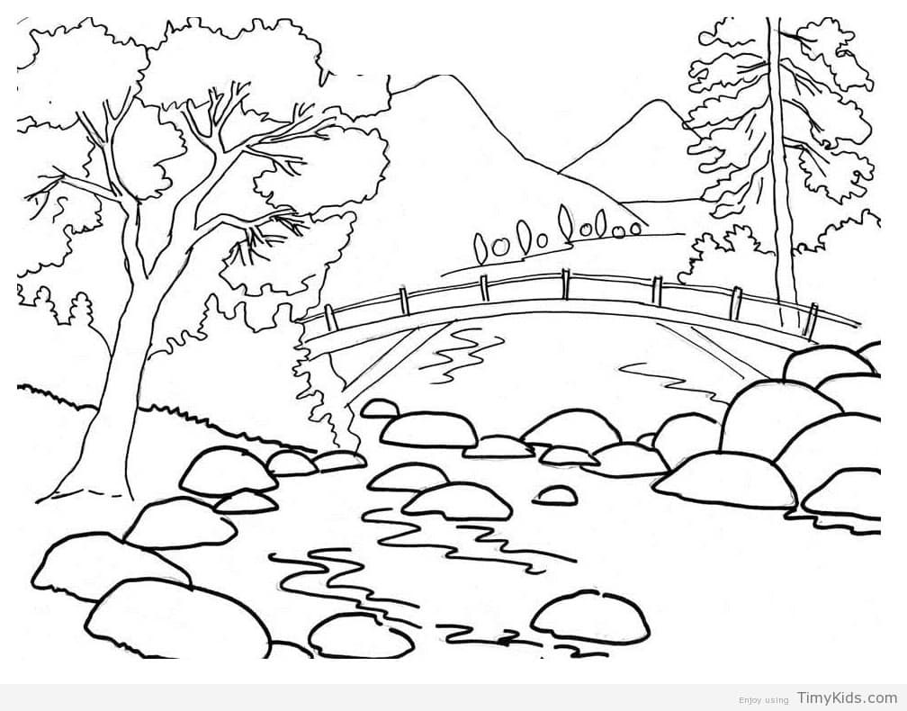 Scenery Coloring Pages Coloring Pages Nature Summer Coloring