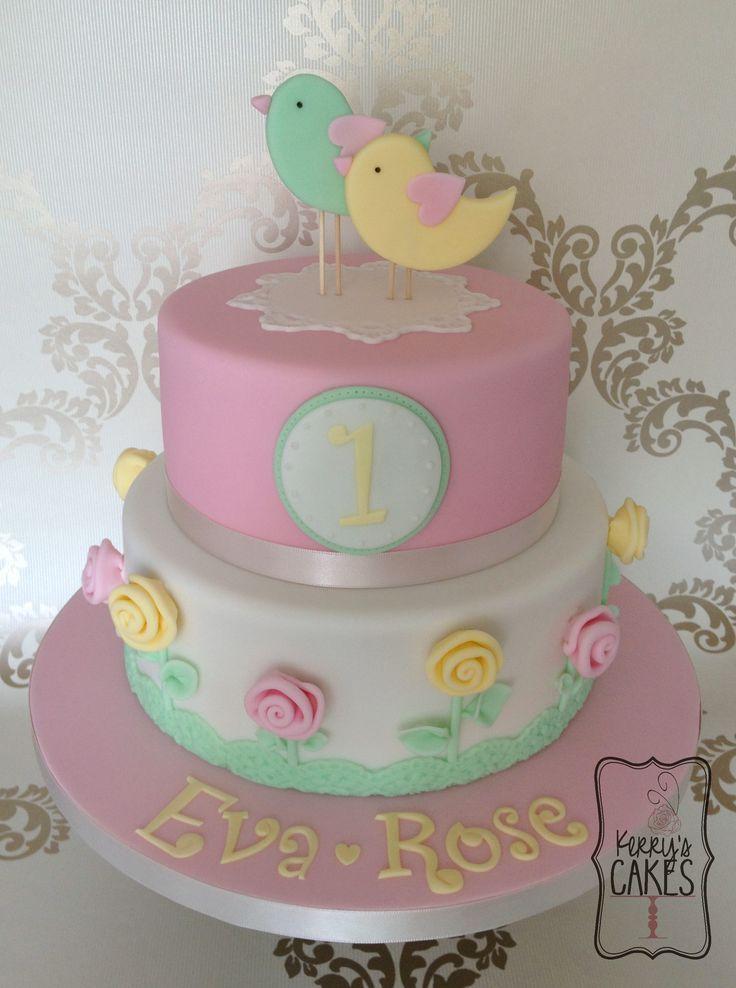 Image result for centro de mesa casita de pajaros first birthday
