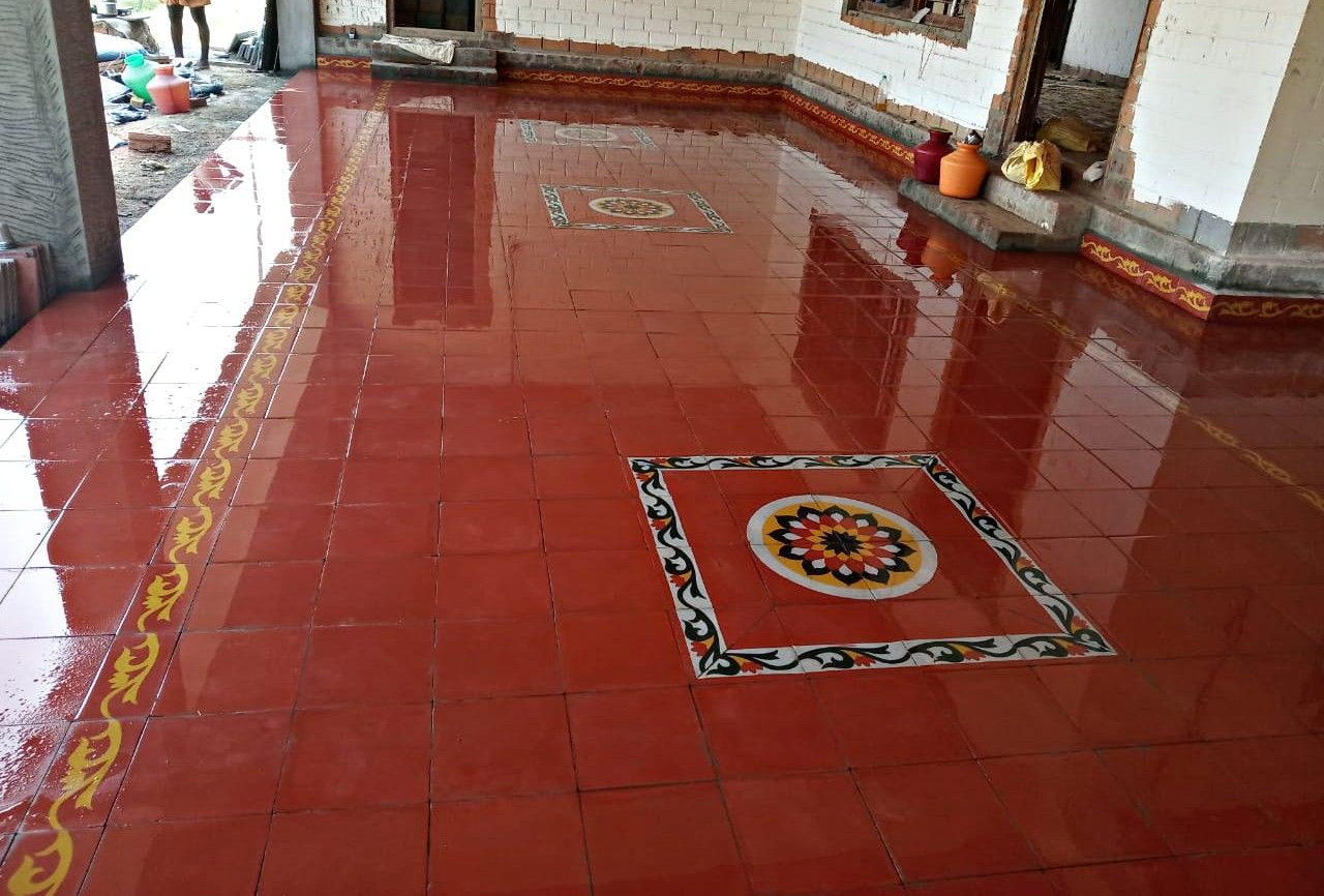 Pin By Suya Chandar On Athangudi Tiles Village House Design