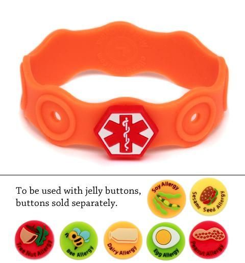 Food Allergy Bracelet For Children This Would Have Been Great When My Sister Was Growing Up Site Also Has Many Other Medical Id Bracelets And