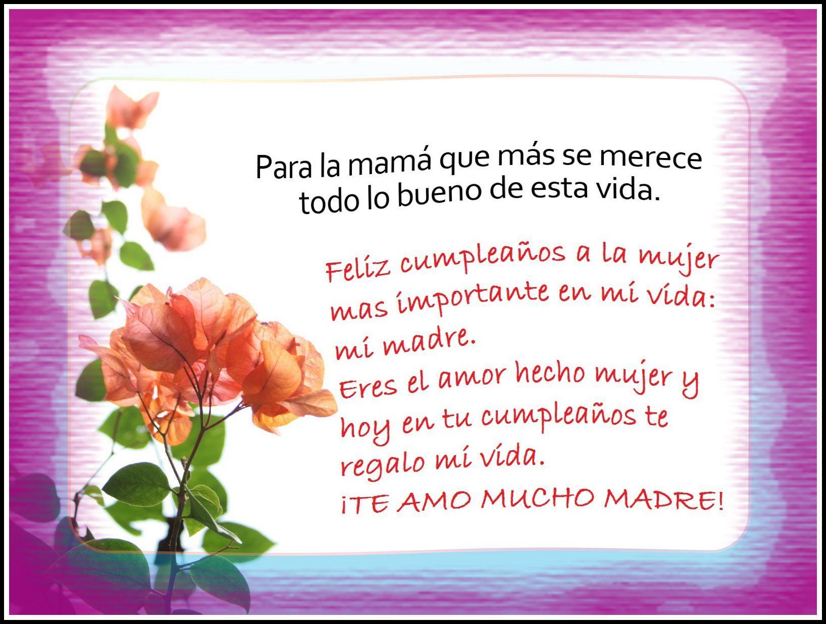 Especiales saludos de cumplea os para mi amor mi madre - Regalos para el cumple de tu madre ...