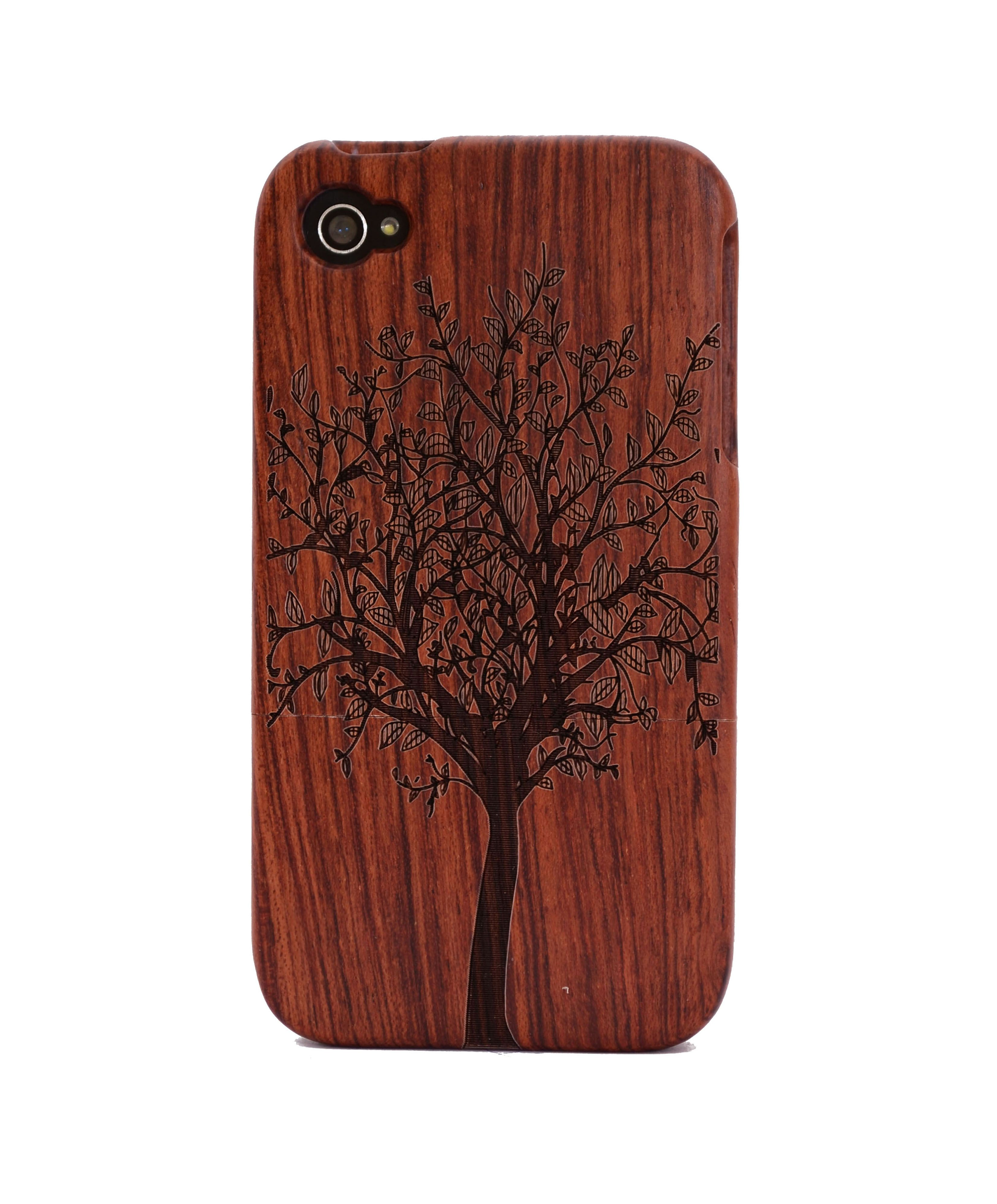 Tree Engraved Rosewood iPhone4/4s Wood Case